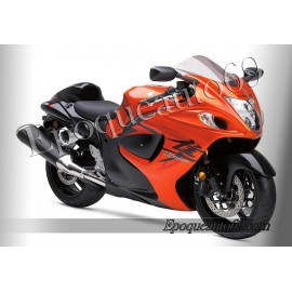 Autocollants stickers Suzuki Hayabusa 2008 version orange / rouge
