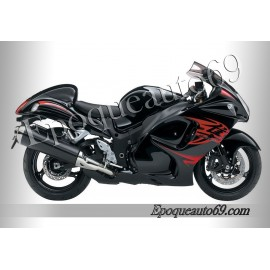Suzuki Hayabusa 2010 version noir / rouge