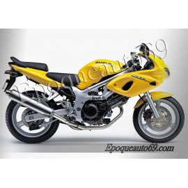Autocollants stickers Suzuki SV 650 1999 Version rouge