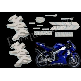 Kit autocollants Stickers Yamaha YZF-R1 1998 version bleu