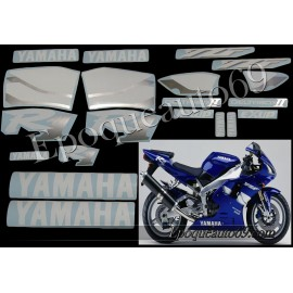 Kit autocollants Stickers Yamaha YZF-R1 2000 version bleu