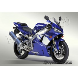 Kit autocollants Stickers Yamaha YZF-R1 2001 version bleu
