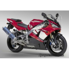 Kit autocollants Stickers Yamaha YZF-R1 2001 version rouge