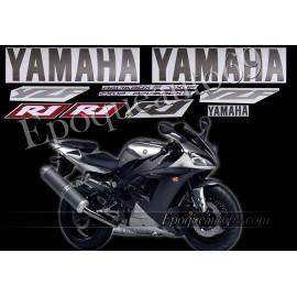 Kit autocollants Stickers Yamaha YZF-R1 2003 version argent