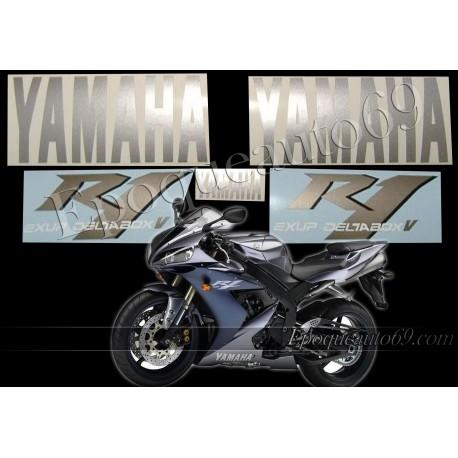 Kit autocollants Stickers Yamaha YZF-R1 2004 version gris