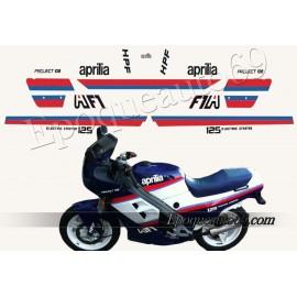 Autocollants stickers Aprilia AF1 125 Project 108 année 1987