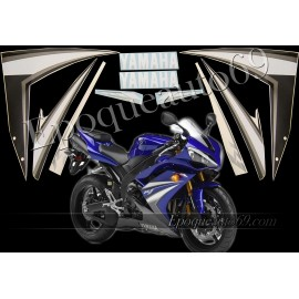 Kit autocollants stickers Yamaha YZF-R1 2007 version bleu