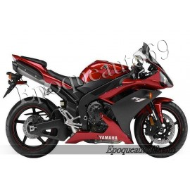 "Kit autocollants stickers Yamaha YZF-R1 2007 version ""rouge cerise"""