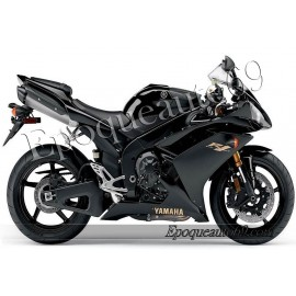 Kit autocollants stickers Yamaha YZF-R1 2008 version noir