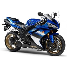 Kit autocollants stickers Yamaha YZF-R1 2008 version bleu 2