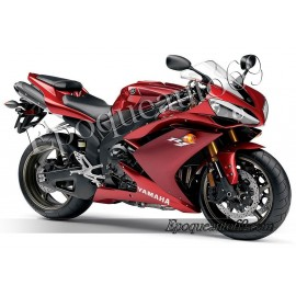 "Kit autocollants stickers Yamaha YZF-R1 2008 version ""rouge cerise"""
