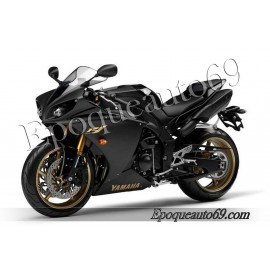 Kit autocollants stickers Yamaha YZF-R1 2009 version noir