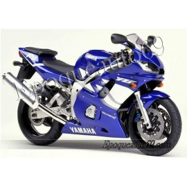 Autocollants stickers Yamaha YZF-R6 1999 version bleu