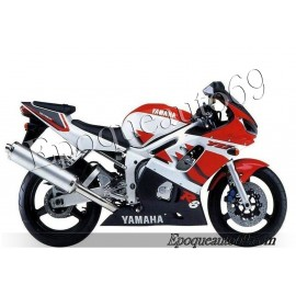 Autocollants stickers Yamaha YZF-R6 1999 version blanc / rouge