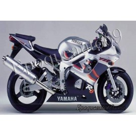 Autocollants stickers Yamaha YZF-R6 1999 version argent / noir