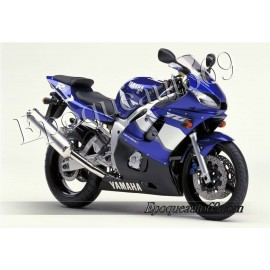 Kit autocollants Stickers Yamaha YZF-R6 2001 version bleu