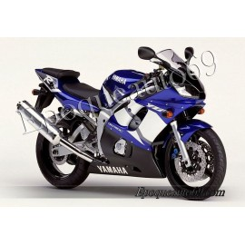 Kit autocollants Stickers Yamaha YZF-R6 2002 version bleu