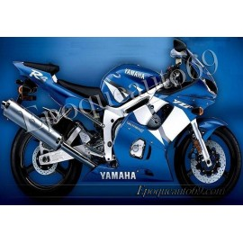 Autocollants Stickers Yamaha YZF-R6 2002 version bleu 2