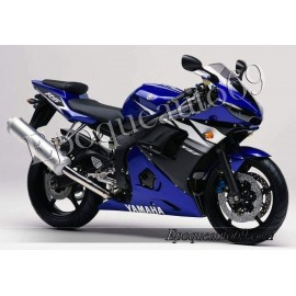 Autocollants Stickers Yamaha YZF-R6 2003 version bleu