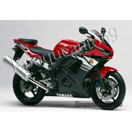 Autocollants Stickers Yamaha YZF-R6 2003 version rouge