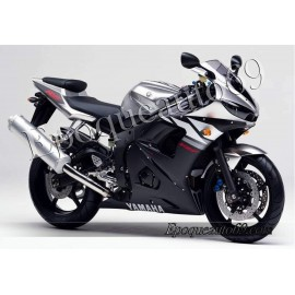 Autocollants Stickers Yamaha YZF-R6 2003 version argent