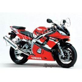 Autocollants Stickers Yamaha YZF-R6 2001 version rouge