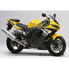 Autocollants Stickers Yamaha YZF-R6 2003 version jaune