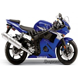 Autocollants Stickers Yamaha YZF-R6 2004 version bleu