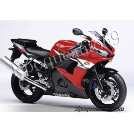 Autocollants Stickers Yamaha YZF-R6 2004 version rouge
