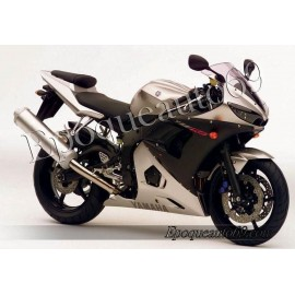 Autocollants Stickers Yamaha YZF-R6 2004 version argent