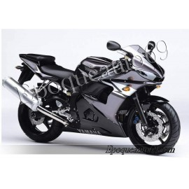 Autocollants Stickers Yamaha YZF-R6 2004 version gris / noir
