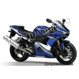 Autocollants Stickers Yamaha YZF-R6 2005 version bleu
