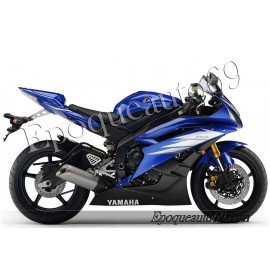 Autocollants stickers Yamaha YZF-R6 2006 - version bleu