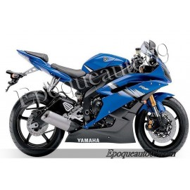Autocollants stickers Yamaha YZF-R6 2006 - version bleu2
