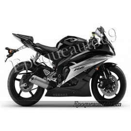 Autocollants stickers Yamaha YZF-R6 2007 - version noir
