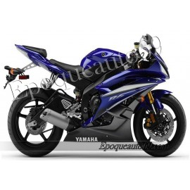 Autocollants stickers Yamaha YZF-R6 2007 - version bleu