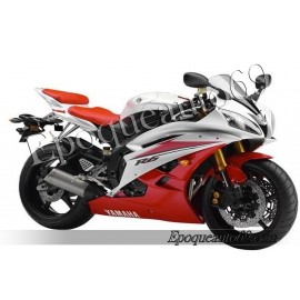 Autocollants stickers Yamaha YZF-R6 2007 - version blanc / rouge