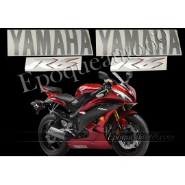 "Autocollants stickers Yamaha YZF-R6 2007 - version ""rouge cerise"""