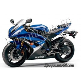 Kit autocollants Stickers Yamaha YZF-R6 2008 - version bleu 1