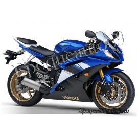 Kit autocollants Stickers Yamaha YZF-R6 2008 - version bleu 2