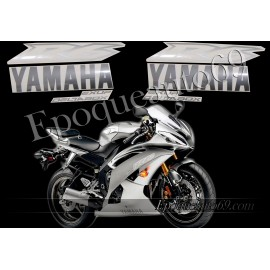 Kit autocollants Stickers Yamaha YZF-R6 2008 - version argent