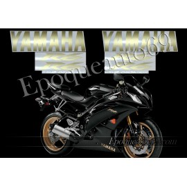 Autocollants Stickers Yamaha YZF-R6 2009 - version noir
