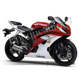 Autocollants Stickers Yamaha YZF-R6 2009 - version rouge / blanc
