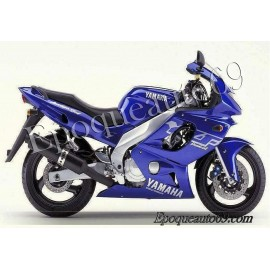 Autocollants stickers Yamaha YZF600R 2001 version bleu