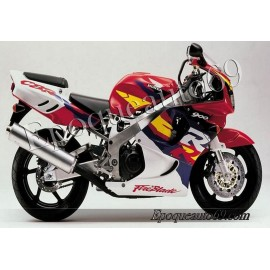 Autocollants Stickers Honda CBR 919RR 1996 - version rouge blanc jaune