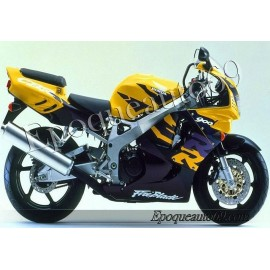 Autocollants stickers Honda CBR 919RR 1997 - version jaune noir violet