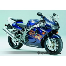 Autocollants stickers Honda CBR 919RR 1999 - version blanc / rouge / bleu