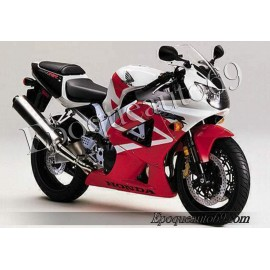 Autocollants stickers Honda CBR 929RR 2001 - version rouge