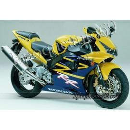Honda CBR 954RR 2003 - version jaune / bleu foncé
