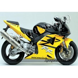 Autocollants stickers Honda CBR 954RR 2003 - version jaune / bleu foncé